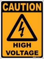 CAUTION High Voltage Sign