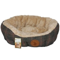 Country Pet Tweed / Fur Bed - 50 x 40cm x 1