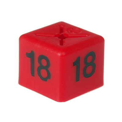 SHOPWORX CUBEX 'Size 18' Size cubes - Red (Pack 50)