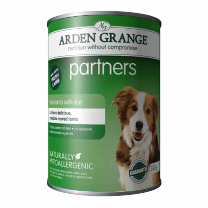 Arden Grange Partners Adult - fresh lamb with rice 24 x 395g