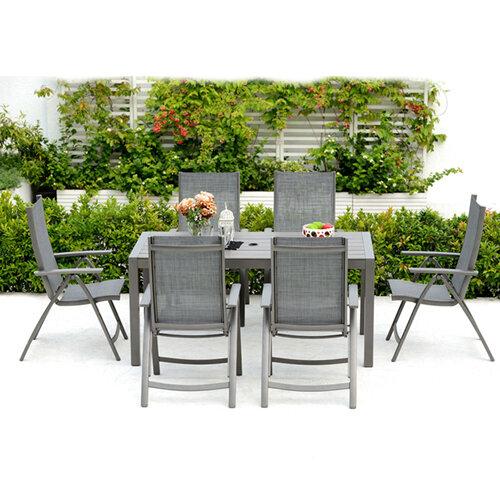 Solana 6 Seater Rectangular Dining Set with background
