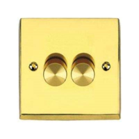 HERITAGE 2 GANG  1W 250W DIMMER VIC