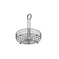 Wire Table Caddie  Black 20 x 21.5cm