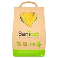 Sanicat 100% Corn Cob Cat Litter - 6 Litre x 1