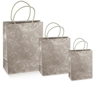 Luxury Grey Patterned Bags