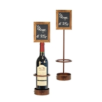 Wine Bottle Chalk Board Display Single Bottle