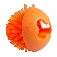"Rogz Fred Medium Treat Ball - Orange 2½"" x 1"