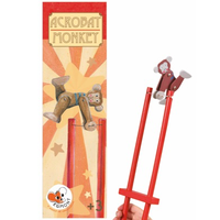 Wooden Acrobat Monkey Toy