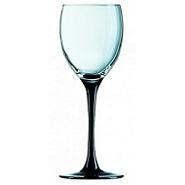 Domino Wine Goblet BlackStem 12.5oz 35cl Carton of 8