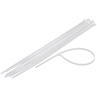 200x4.8mm CLEAR CABLE TIES (100pk)