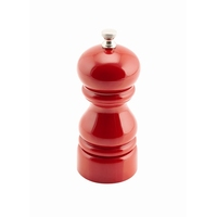 Genware Salt or Pepper Grinder Red 12.7cm