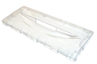 Top / Bottom Drawer Front - Indesit Freezer / Freezer Flap 414 X 162 X 25 - Clear