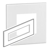 Arteor (British Standard) Plate 8 Module Square White | LV0501.0102