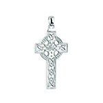 14k white gold large celtic cross charm s8814 from Solvar