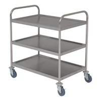 Trolley 3 Tier S/S Fully Welded 930mm x 530mm x 860mm