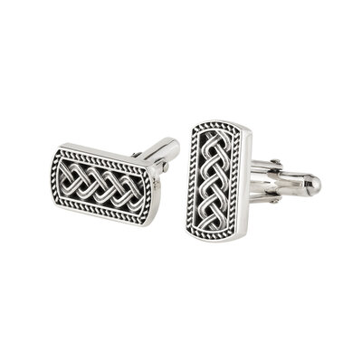 sterling silver ignot style celtic cufflinks S6523 from Solver
