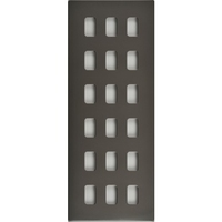 Schneider Ultimate Screwless Grid Black Nickel 18 Gang Ultimate Screwless LV0701.1449