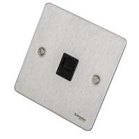 Flat Plate Stainless Steel RJ45 DATA Socket Black Insert|LV0701.0600