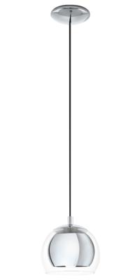 EGLO Rocamar Chrome and Glass Single Pendant IP20 | LV1902.0093