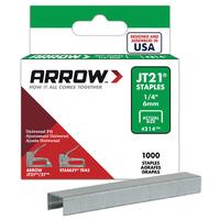 Arrow JT21 Staples 6mm 1/4'' - A214 - 5x1000