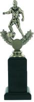 25cm Soccer Trophy on Black Pedestal (M) | TC