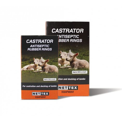 Net-Tex Lamb Antiseptic Castration Rings x 500
