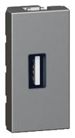 Arteor USB Socket 1 Module - Magnesium  | LV0501.2540