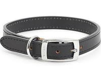 """Ancol Heritage Leather Collar Black Size 2 14"""" x 1"""