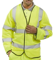Long Sleeved Yellow Hi-Vis Safety Vest
