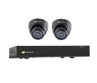 CCTV KIT 8 CHANNEL AHD DVR 2 DOME