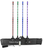 CHAUVET DJ Freedom Stick Pack (4) Battery-Powered LED Effect/Stage Lights w/Carrying Bag & IRC-6 RemoteLED Lighting