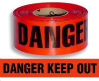 Barrier Tape Danger Keep Out Red/Blk 300m