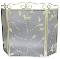 Country Cream Fire Screen