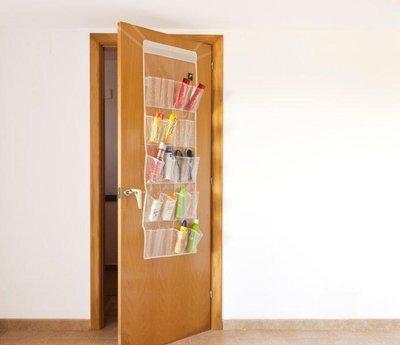 Over Door Organiser 24 Pocket Transparent