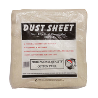 12 x 9 Cotton Twill Dust Sheet (WT348)