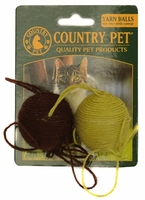 Country Pet Cat Toy - Yarn Ball 2-Pk x 1