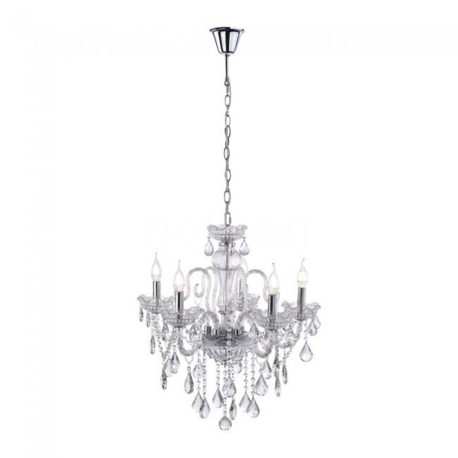 Paul Neuhaus Gracia 5 Lamp E14 Clear Decorative Chandelier Less