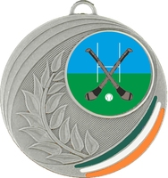 50mm Medal with Tri Colour Infill (Silver)