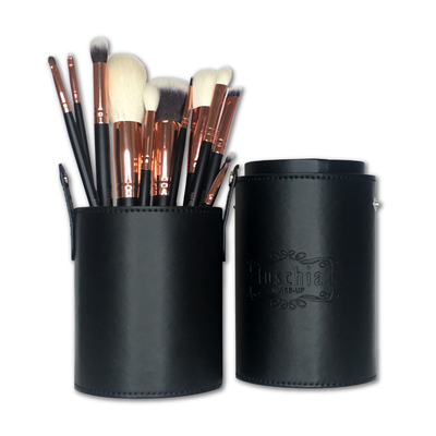 Exclusive 11 Piece Rose Gold Tube Brush Set