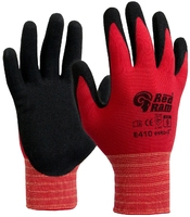 E410 Red Ram Sandy Latex Palm Coat Glove Red/Black