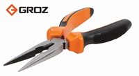 Groz Long Nose Pliers 200mm / 8Inch