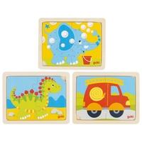 4 pcs Dino,Elephant,Fire truck jigsaw disp(9)