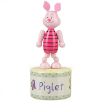 Wooden Piglet push-up toy