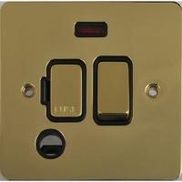 Flat Plate Polished Brass 13A Switch FSD F/0+N BL | LV0701.0492
