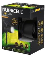 DURACELL SOLAR SPOT LIGHT 6HRS.30LM / 10HRS.-24LM (BLACK FINISH)