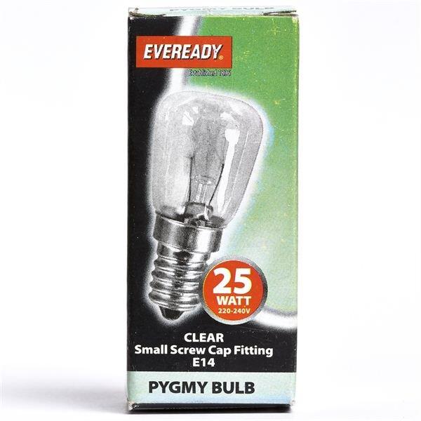 EVEREADY CLEAR PYGMY LAMP E14 25W