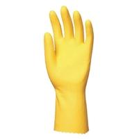 Yellow household latex gloves