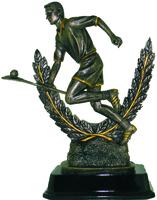 22.5cm Hurler & Wreath - Bronze/Gold