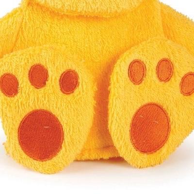 Washcloth Puppet - close-up