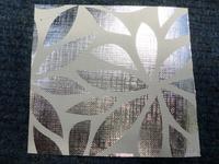50CM X 100M SILVER / WHITE FLOWER (099009) (PER ROLL)